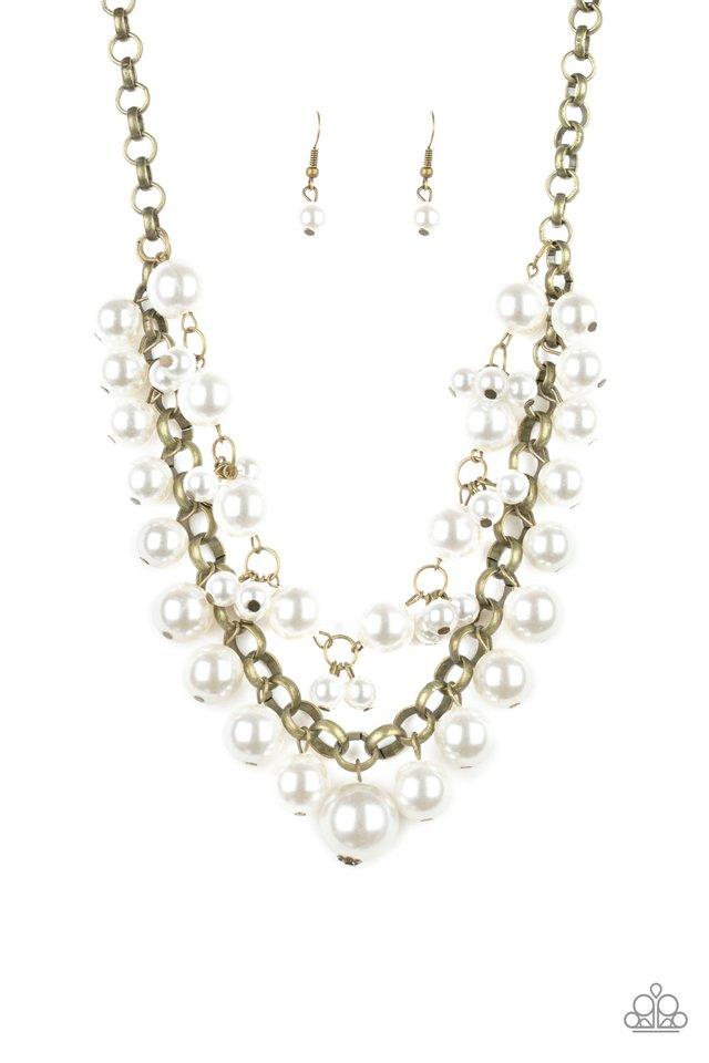 BALLROOM Service - Brass - Paparazzi Necklace Image