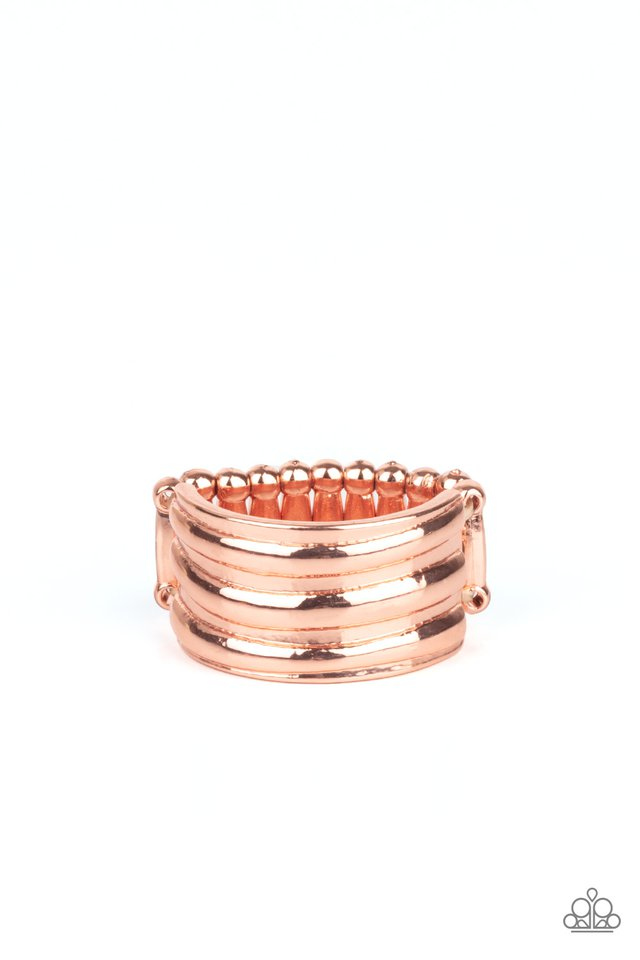 Rough Around The Edges - Copper - Paparazzi Ring Image