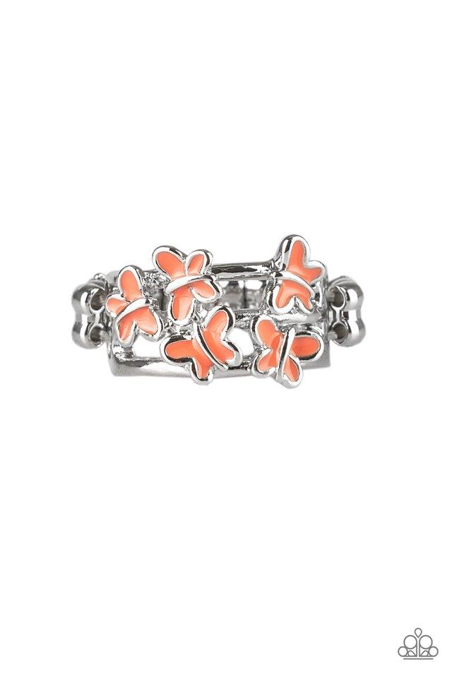Fluttering Fashion - Orange - Paparazzi Ring Image
