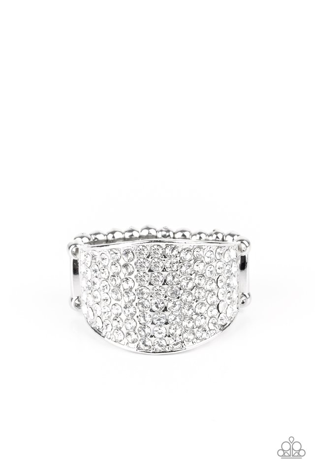 Kaboom! - White - Paparazzi Ring Image