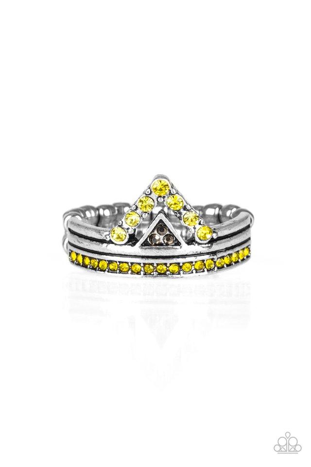 Base Over Apex - Yellow - Paparazzi Ring Image