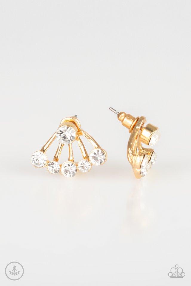 Jeweled Jubilee - Gold - Paparazzi Earring Image