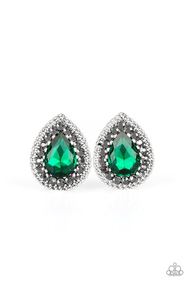 Debutante Debut - Green - Paparazzi Earring Image