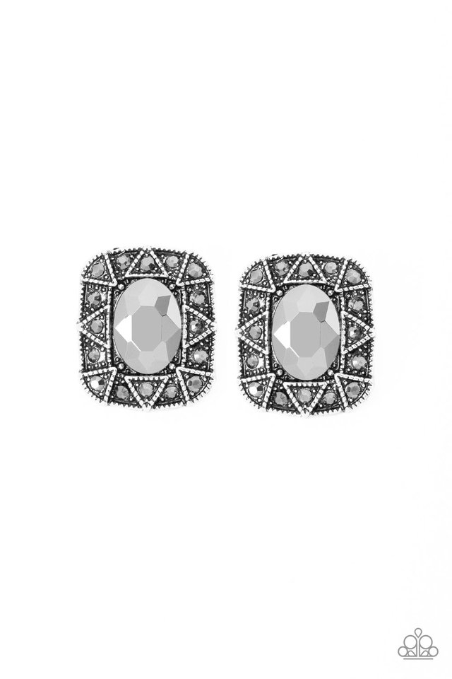 Young Money - Silver - Paparazzi Earring Image