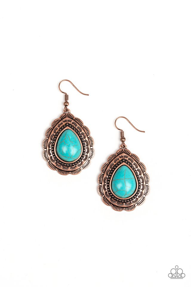 Mountain Mover - Copper - Paparazzi Earring Image