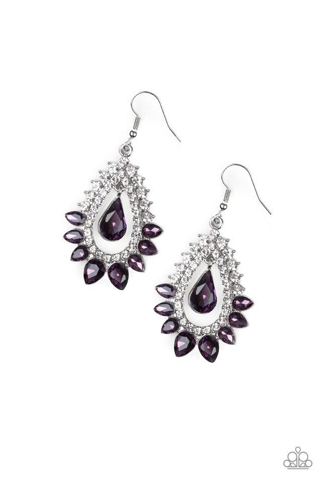 Boss Brilliance - Purple - Paparazzi Earring Image