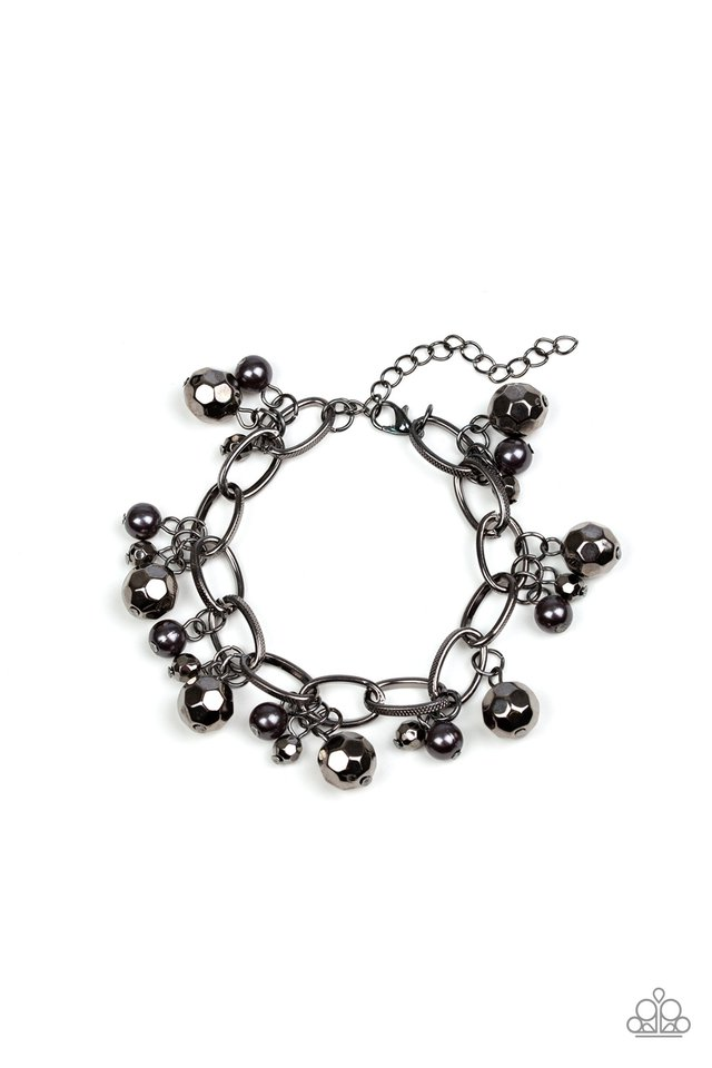 Make Do In Malibu - Black - Paparazzi Bracelet Image