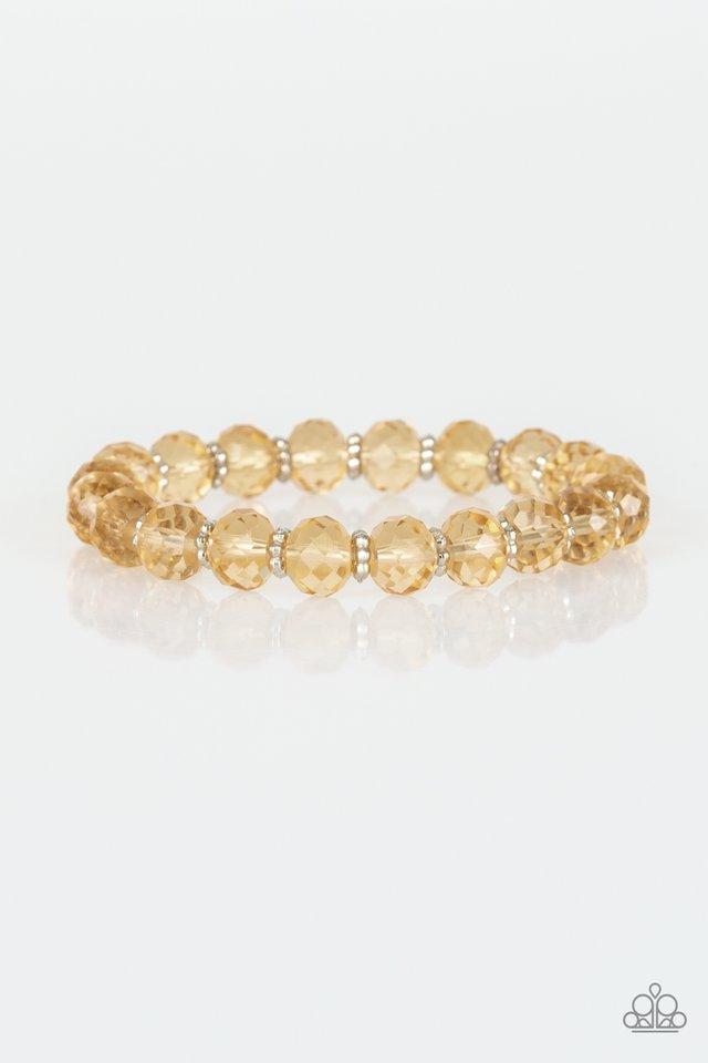 Crystal Candelabras - Gold - Paparazzi Bracelet Image