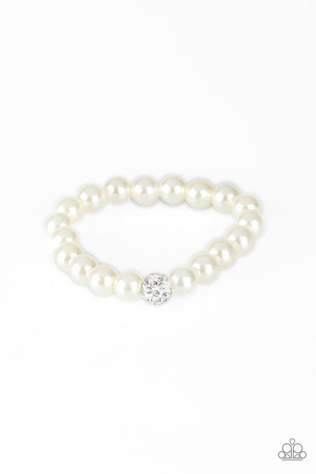 POSHing Your Luck - White - Paparazzi Bracelet Image