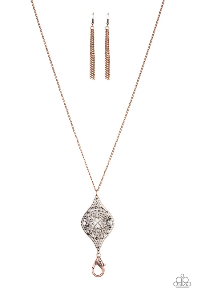 Totally Worth The TASSEL - Copper - Paparazzi Necklace Image