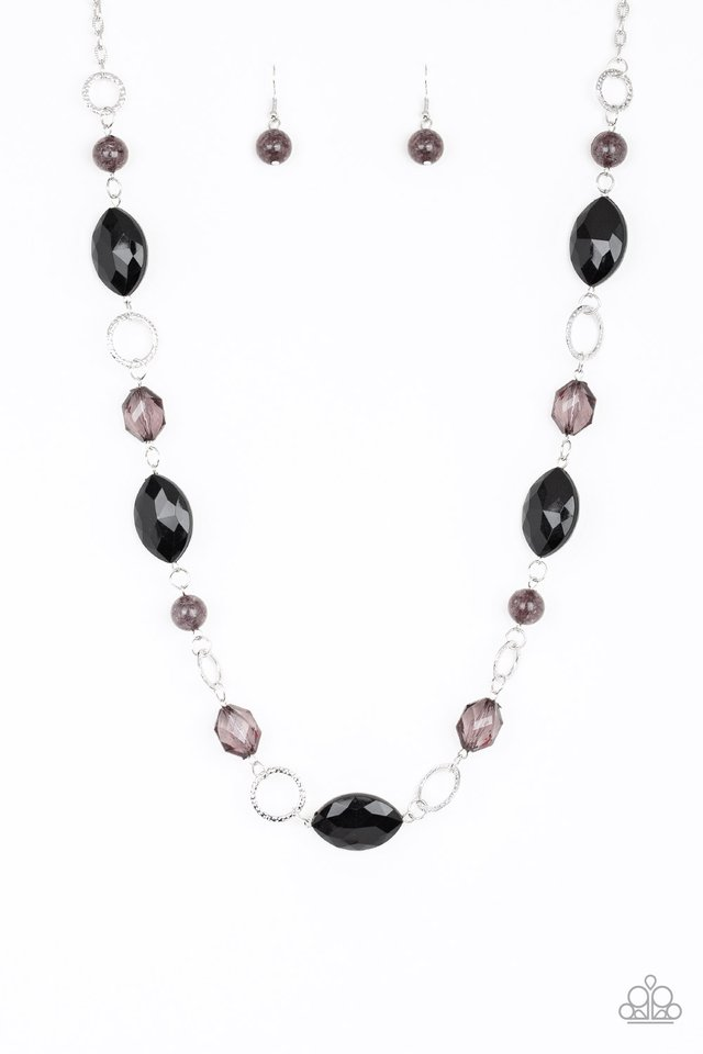 Shimmer Simmer - Black - Paparazzi Necklace Image