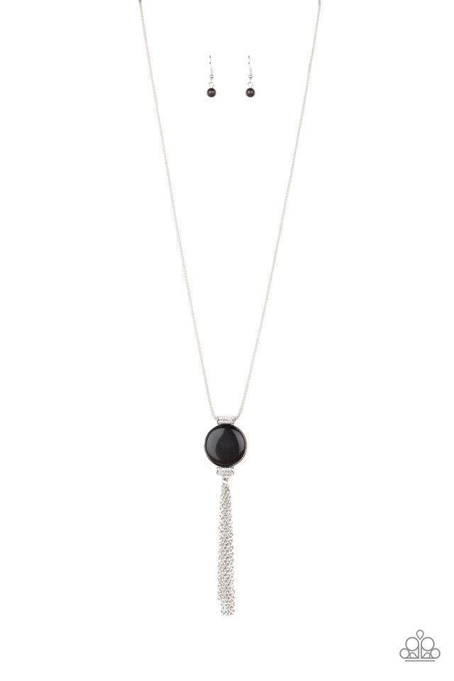 Happy As Can BEAM - Black - Paparazzi Necklace Image