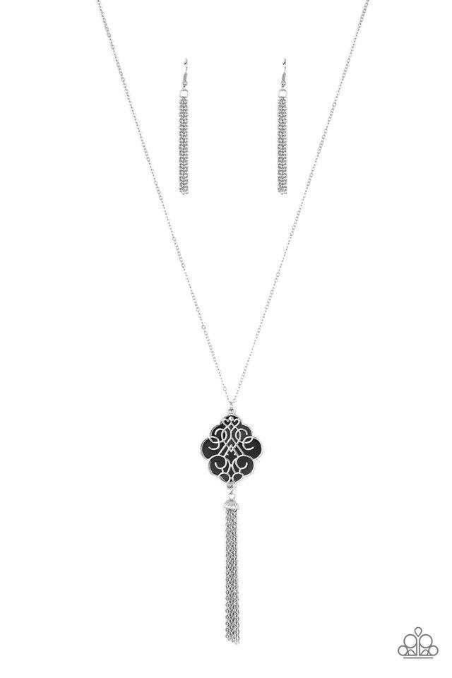 Malibu Mandala - Black - Paparazzi Necklace Image