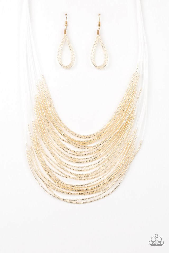 Catwalk Queen - Gold - Paparazzi Necklace Image