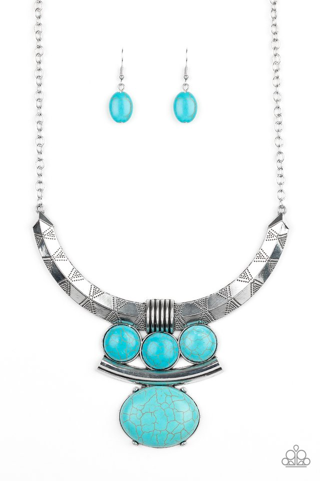 Commander In CHIEFETTE - Blue - Paparazzi Necklace Image