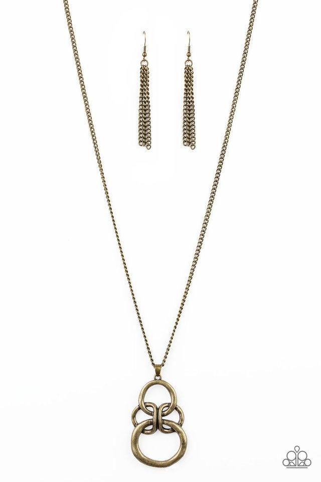 Courageous Contour - Brass - Paparazzi Necklace Image