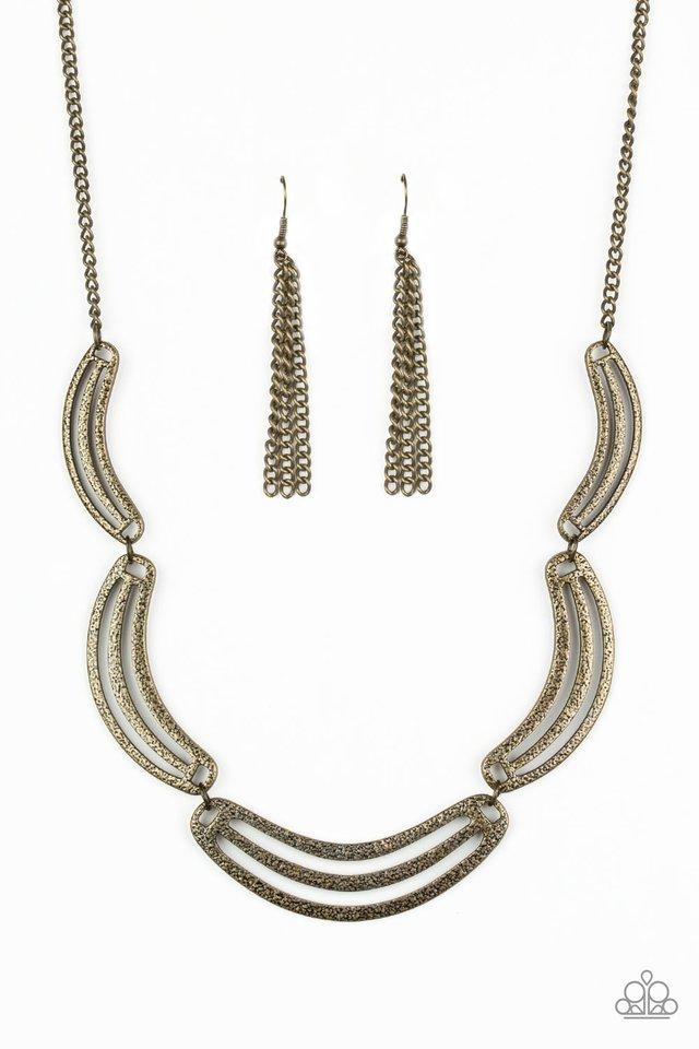 Palm Springs Pharaoh - Brass - Paparazzi Necklace Image