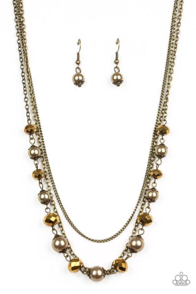 Tour de Demure - Brass - Paparazzi Necklace Image