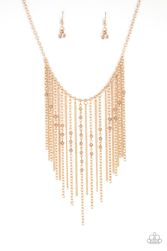 First Class Fringe - Gold - Paparazzi Necklace Image