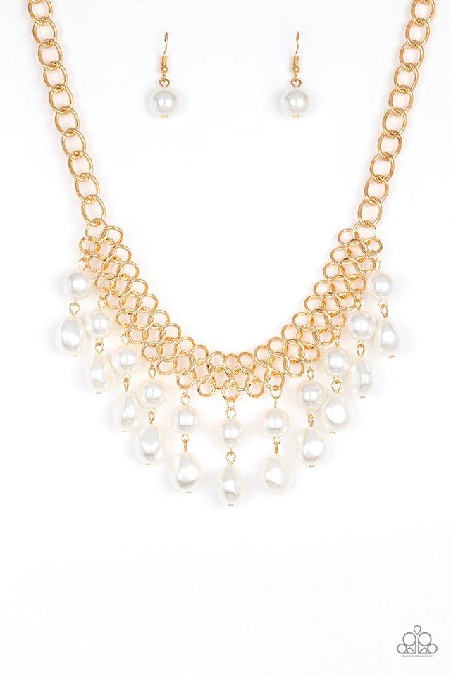5th Avenue Fleek - Gold - Paparazzi Necklace Image