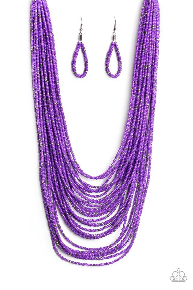 Rio Rainforest - Purple - Paparazzi Necklace Image
