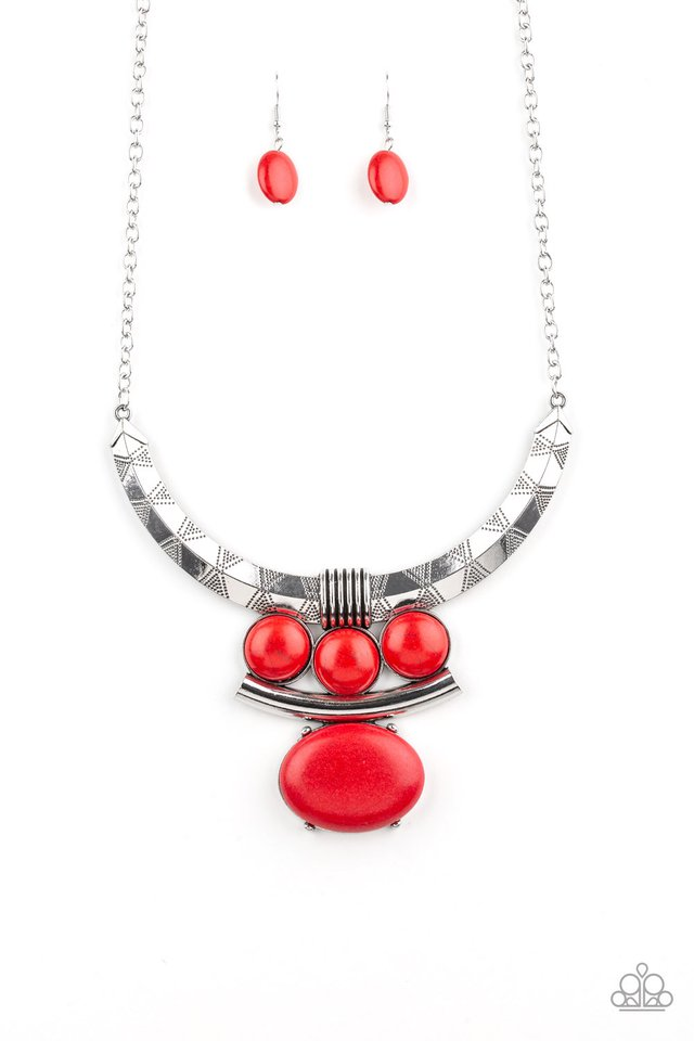 Commander In CHIEFETTE - Red - Paparazzi Necklace Image