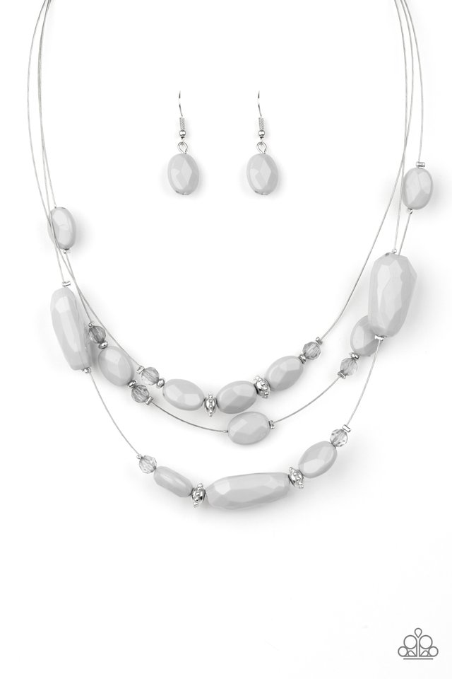 Radiant Reflections - Silver - Paparazzi Necklace Image