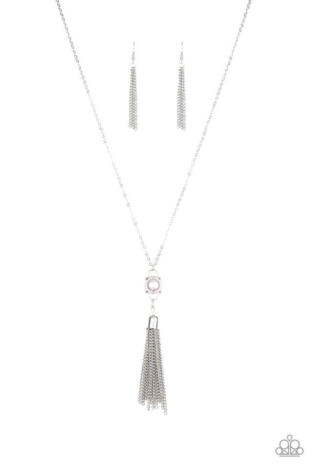 Diva Dance Party - Silver - Paparazzi Necklace Image
