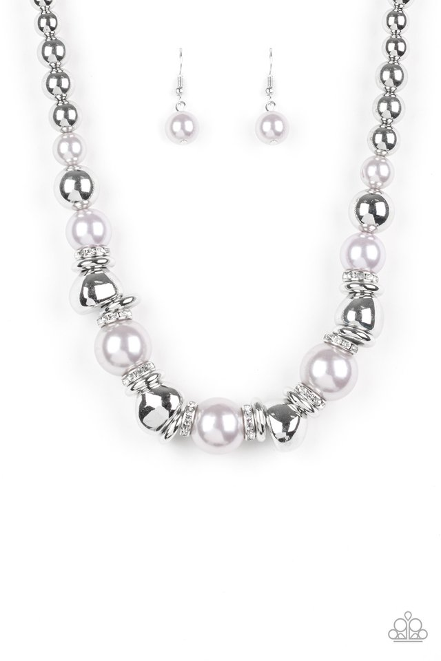 Hollywood HAUTE Spot - Silver - Paparazzi Necklace Image