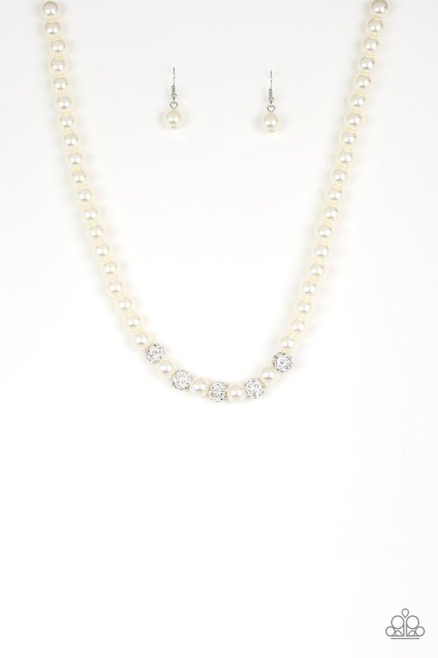 Posh Boss - White - Paparazzi Necklace Image