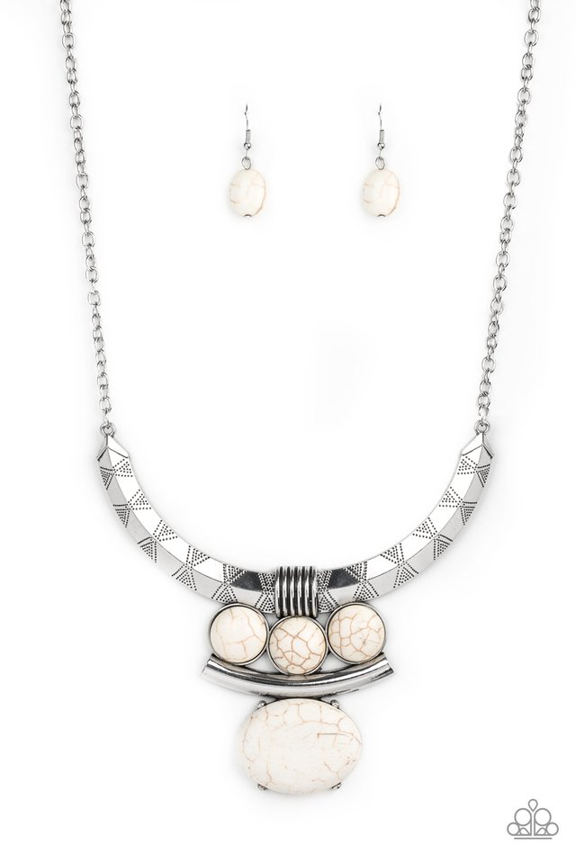 Commander In CHIEFETTE - White - Paparazzi Necklace Image