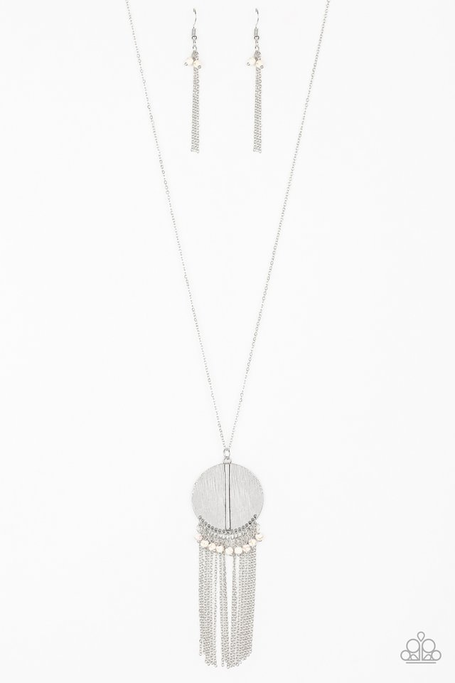 Get A ROAM! - White - Paparazzi Necklace Image