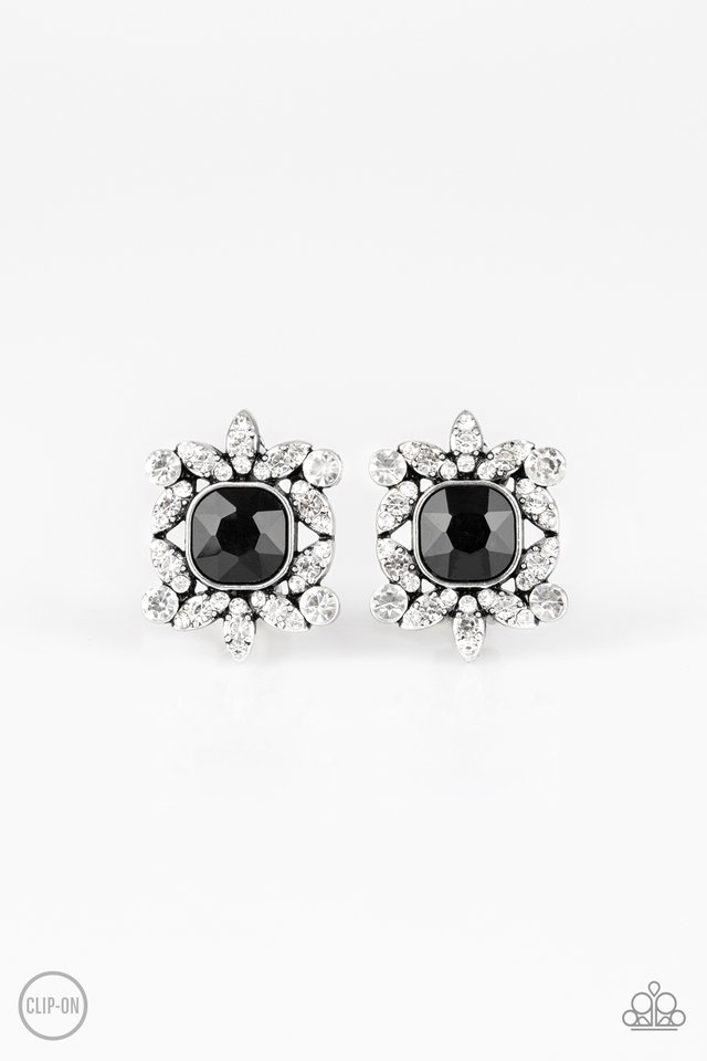 First-Rate Famous - Black - Paparazzi Earring Image
