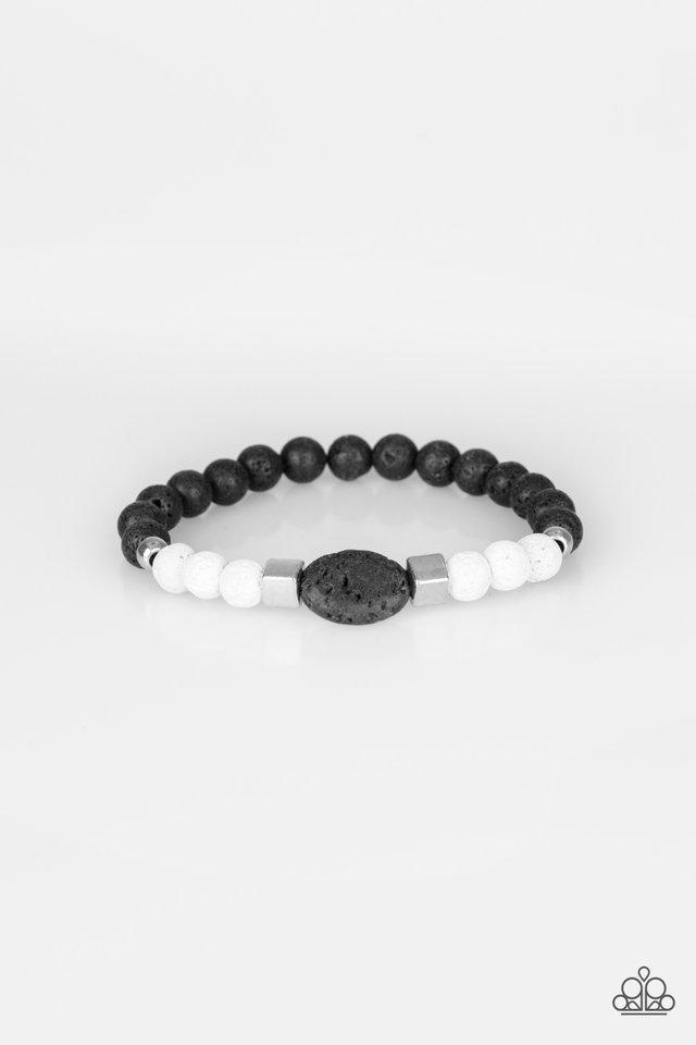 Unwind - White - Paparazzi Bracelet Image