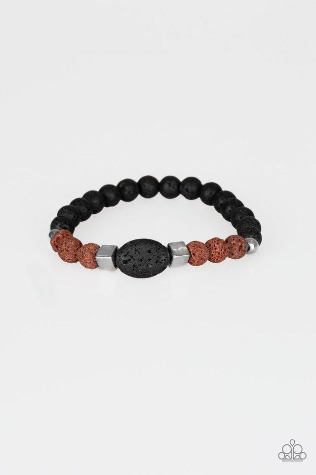 Unwind - Brown - Paparazzi Bracelet Image