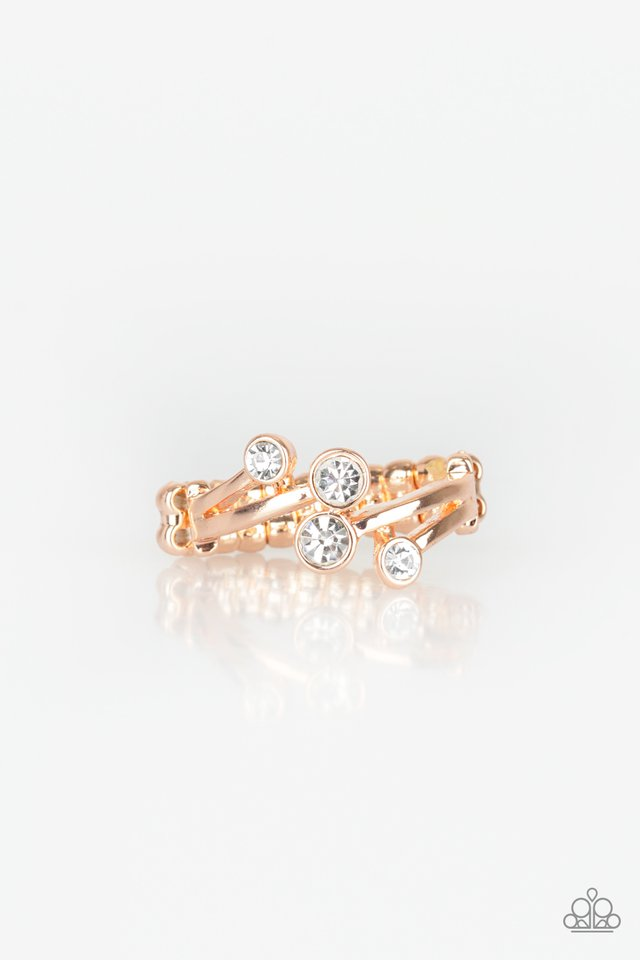 GLOWING Great Places - Rose Gold - Paparazzi Ring Image