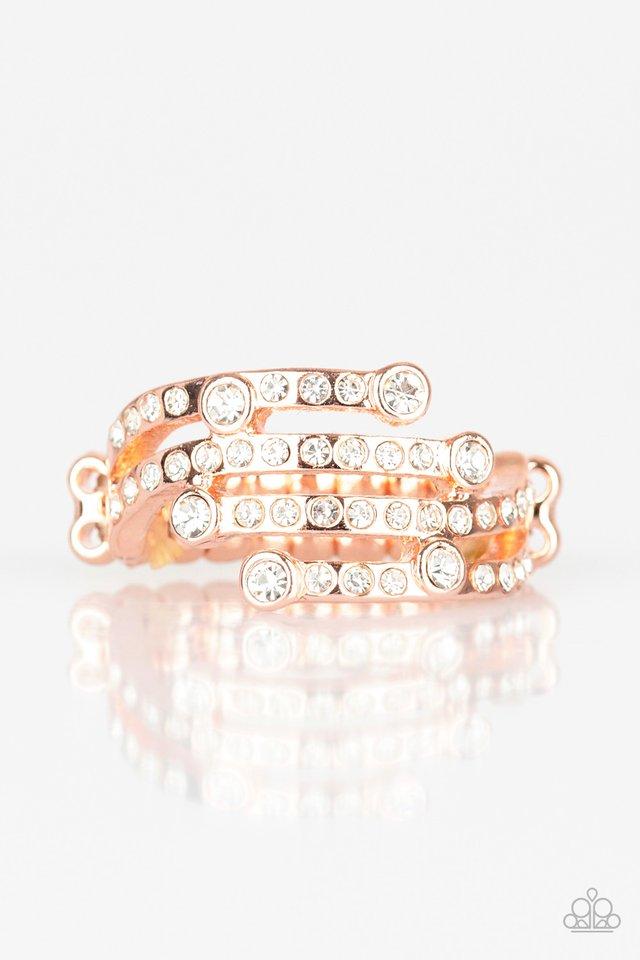 Casino CACHE - Rose Gold - Paparazzi Ring Image