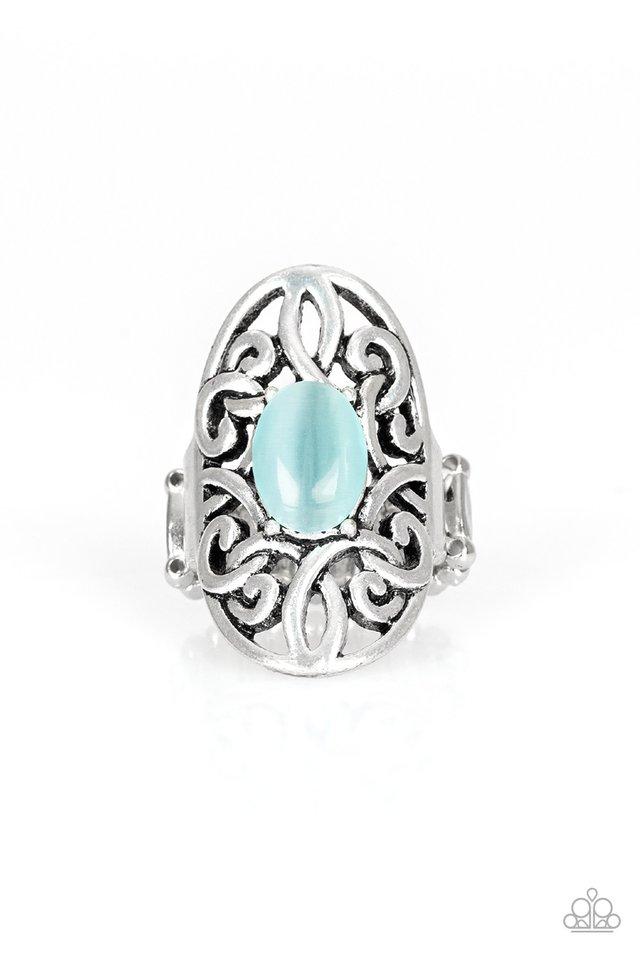GLEAM Big - Blue - Paparazzi Ring Image