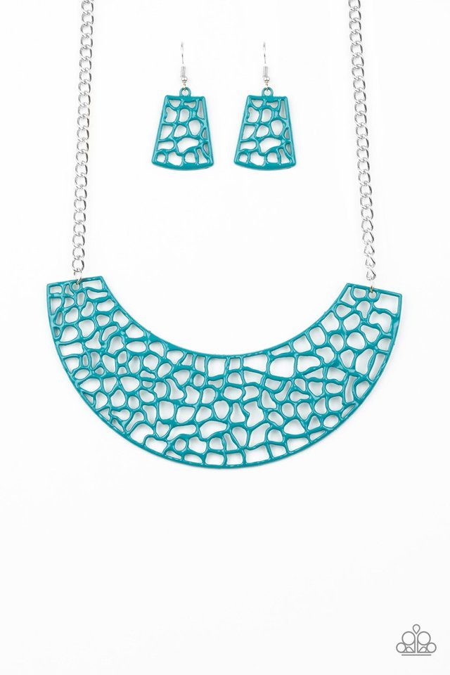 Powerful Prowl - Blue - Paparazzi Necklace Image