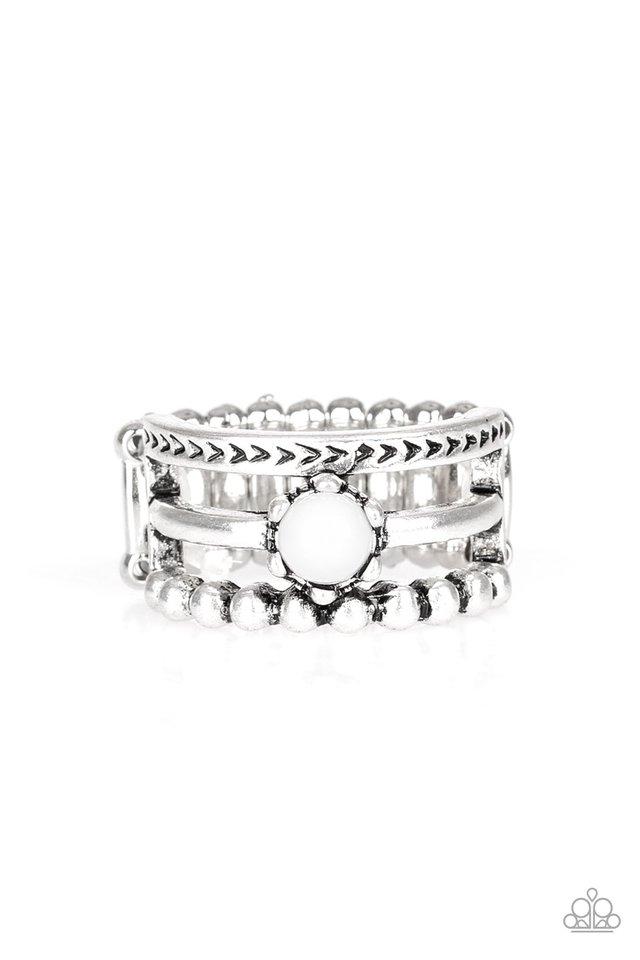 POP Rival - White - Paparazzi Ring Image