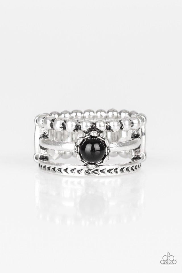 POP Rival - Black - Paparazzi Ring Image