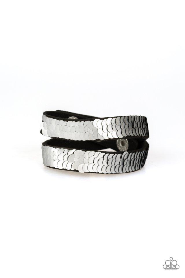 Under The SEQUINS - Silver - Paparazzi Bracelet Image