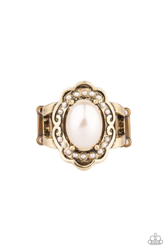 Metro Marina - Brass - Paparazzi Ring Image