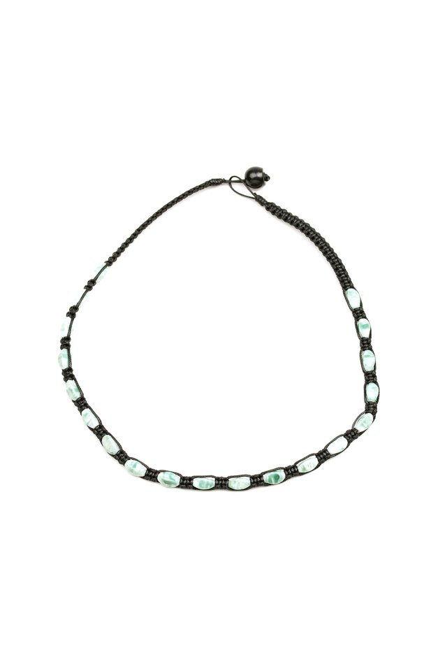 Slip and ROCKSLIDE - Green - Paparazzi Necklace Image