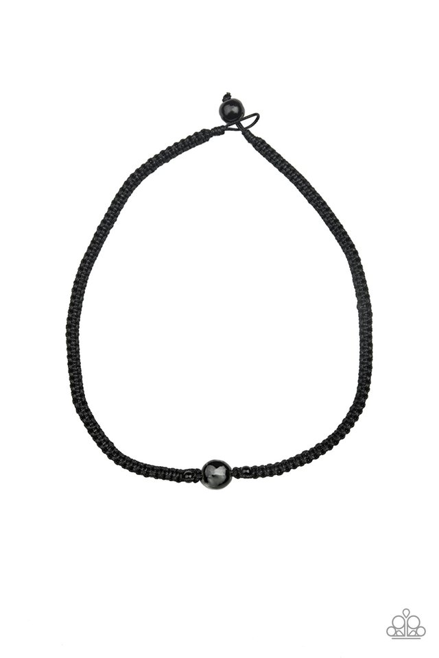Go Climb A Mountain - Black - Paparazzi Necklace Image