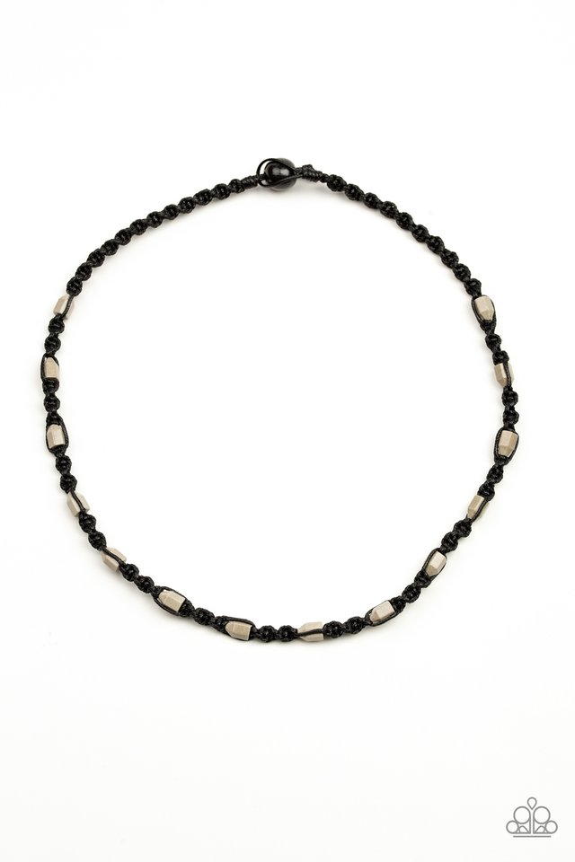 Rockin Rockslide - Black - Paparazzi Necklace Image