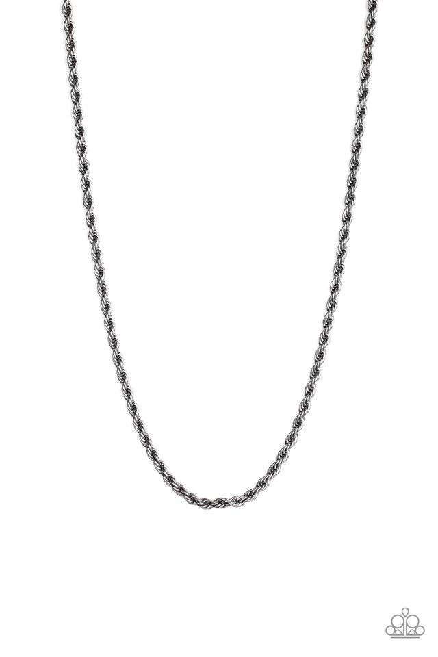 Double Dribble - Black - Paparazzi Necklace Image