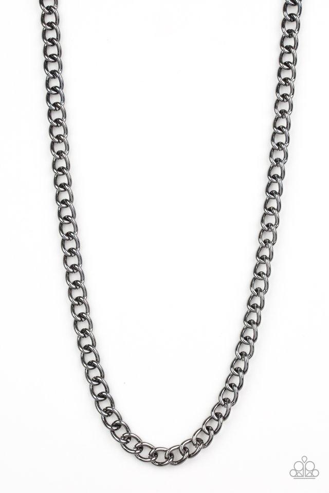 Full Court - Black - Paparazzi Necklace Image