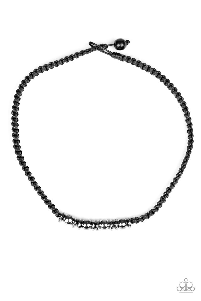 Metal Mechanics - Black - Paparazzi Necklace Image