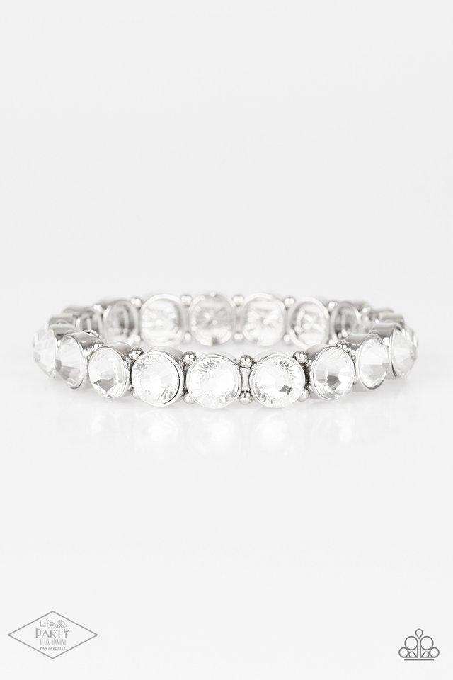 Sugar-Coated Sparkle - White - Paparazzi Bracelet Image